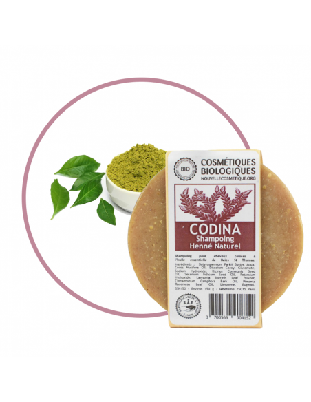 Shampoings solides Shampoing Solide Henné Naturel vegetal Codina